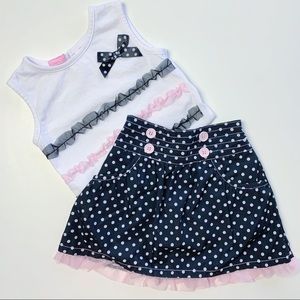 NANNETTE GIRL Tank And Skirt Outfit Set, Size 5